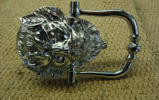 Lion Chrome Door Knocker