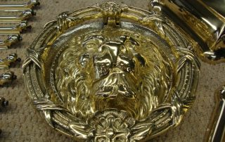 brass door knocker after
