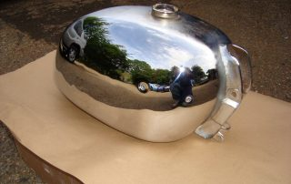 Chrome plated tank