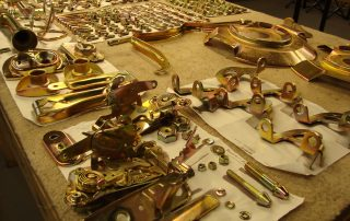 Gold zinc plating