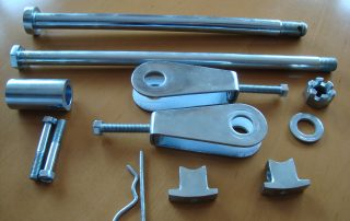 Zinc plated motorcycle parts