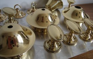 Brass door furniture polished