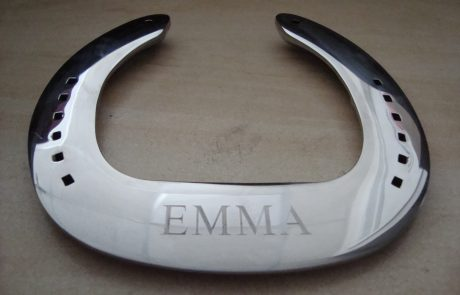 Chrome Engraved Horse Shoe