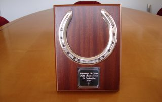 Silver Horse Shoe Plaque