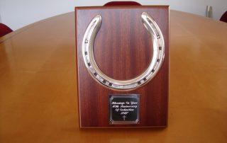 Silver Horse Shoe Plaque