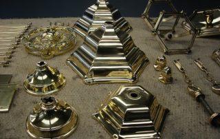 brass lantern parts