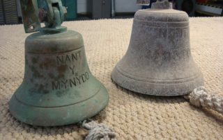corroded brass bell