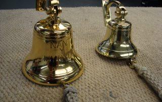 restored brass bell