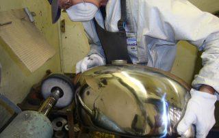 Polishing Chrome Tank