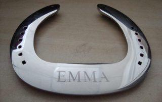Chrome Engraved Horse Shoe