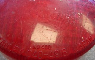 Scratched Tail light
